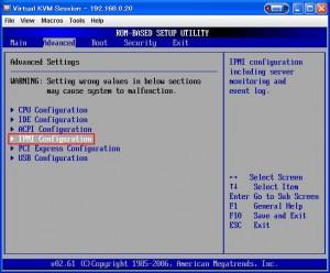 setup 08 300x248 MicroServerのBIOSセットアップ