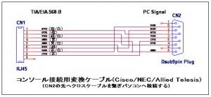RJ45 DSUB Cable 02 300x139 NEC IX2005でPPPoE接続